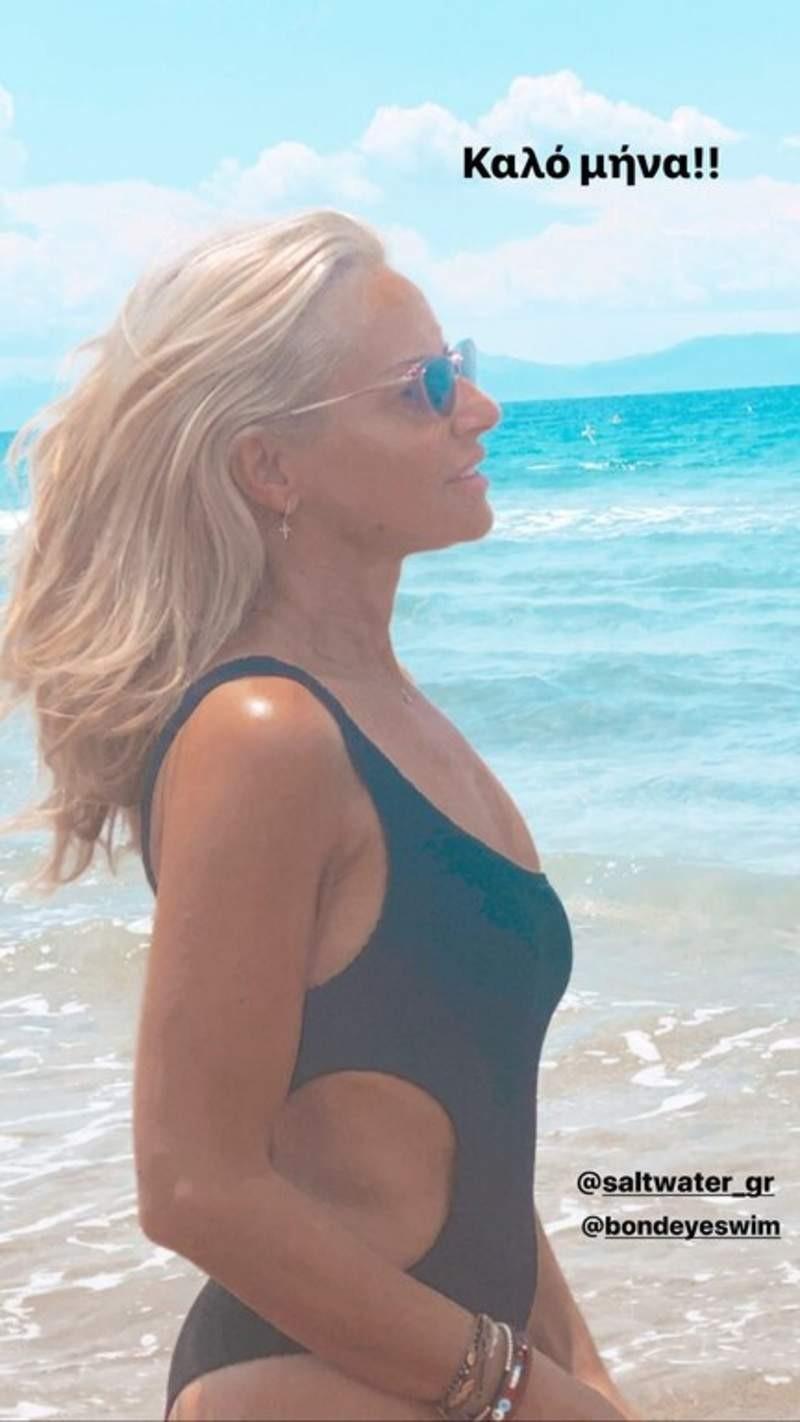 Μαρία Μπεκατώρου ολόσωμο μαγιό σώμα χωρίς φίλτρα