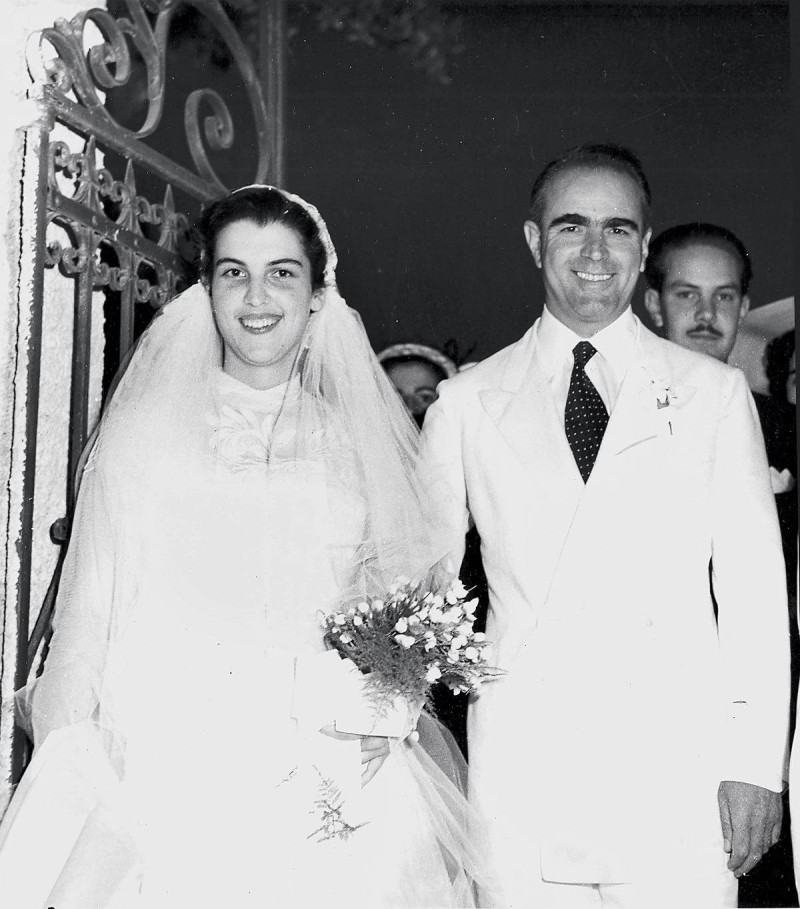Αμαλία Μεγαπάνου γάμος με Κωνσταντίνο Καραμανλή