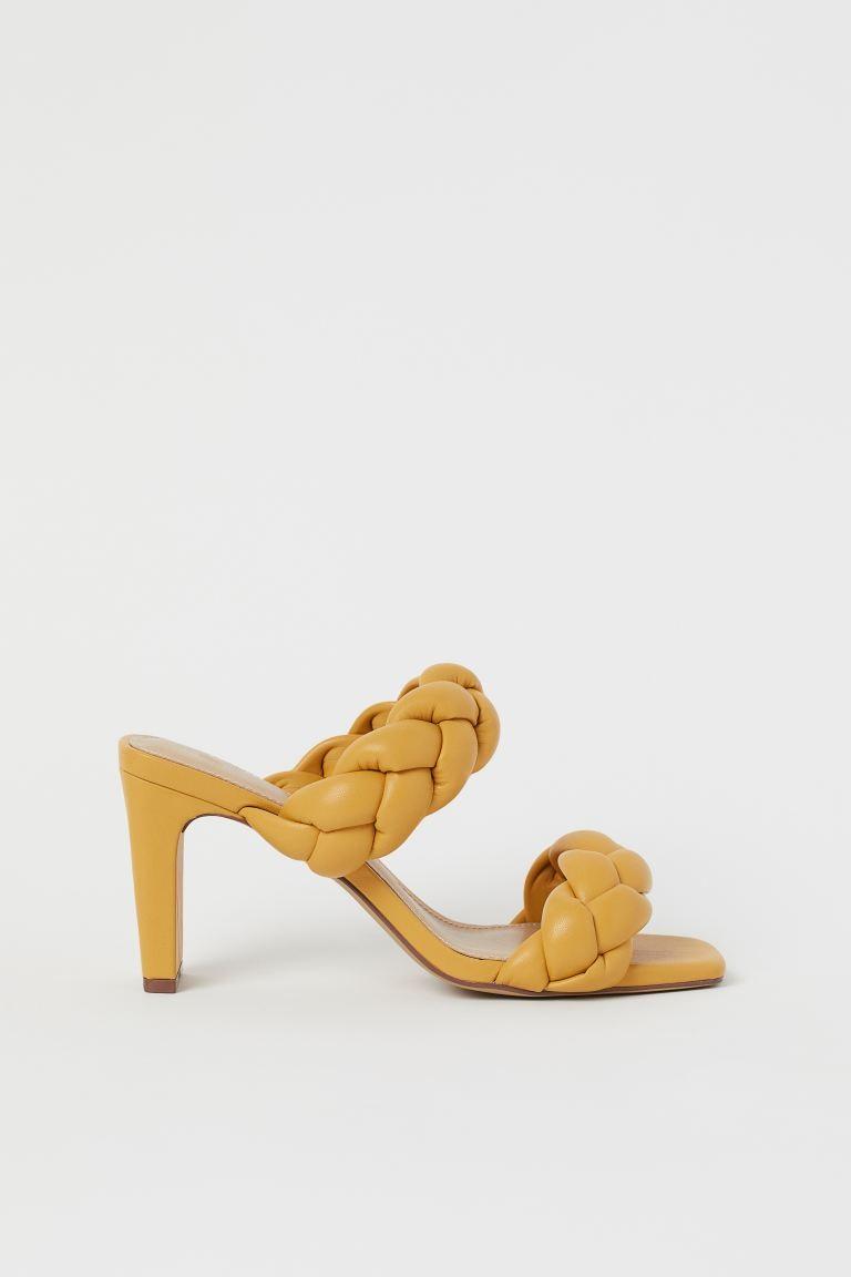 κίτρινα mules Η&Μ