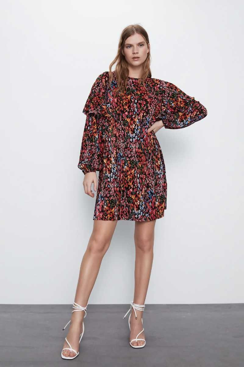 Zara λουλουδάτο φόρεμα έκπτωση