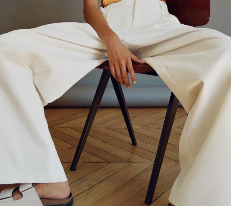 Zara λευκό παντελόνι