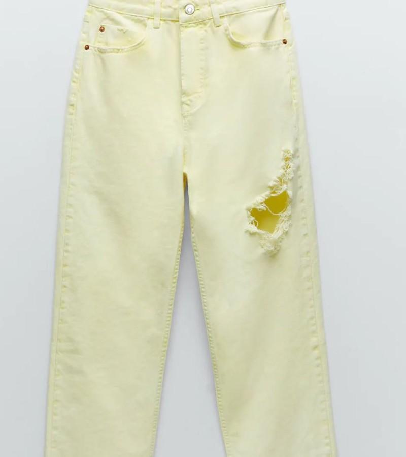 Zara κίτρινο τζιν