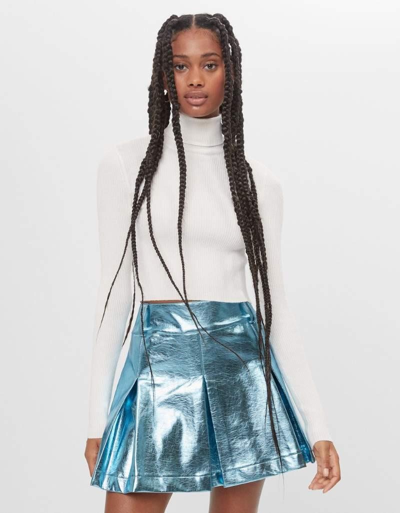 Bershka Νέα συλλογή μπλε φούστα