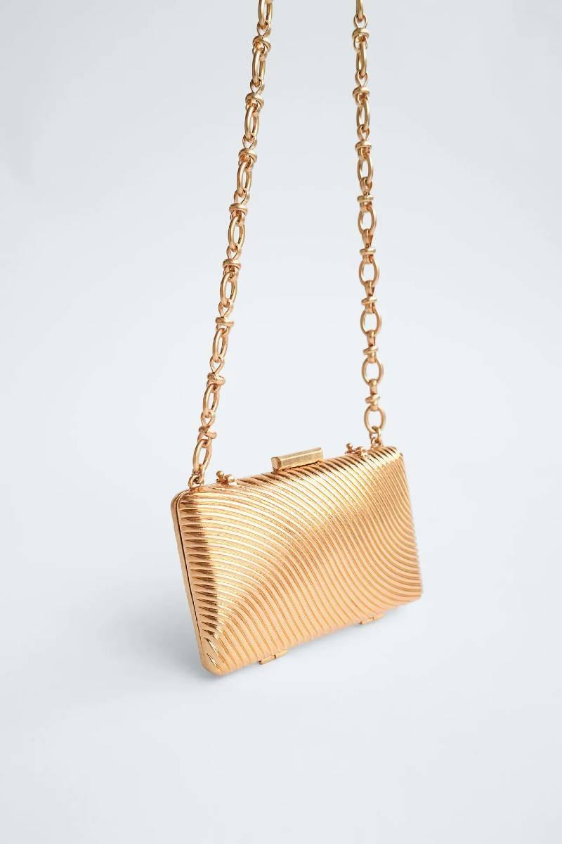 χρυσή τσάντα Zara
