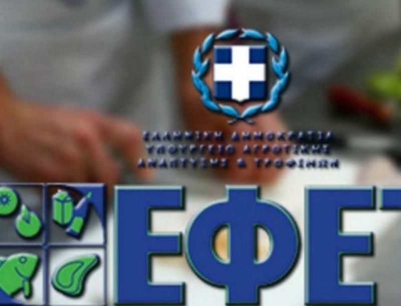Νέα ανακοίνωση του ΕΦΕΤ για την ανάκληση προϊόντων αλλαντικών