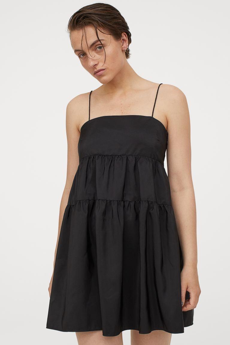 H&M μαύρο φόρεμα