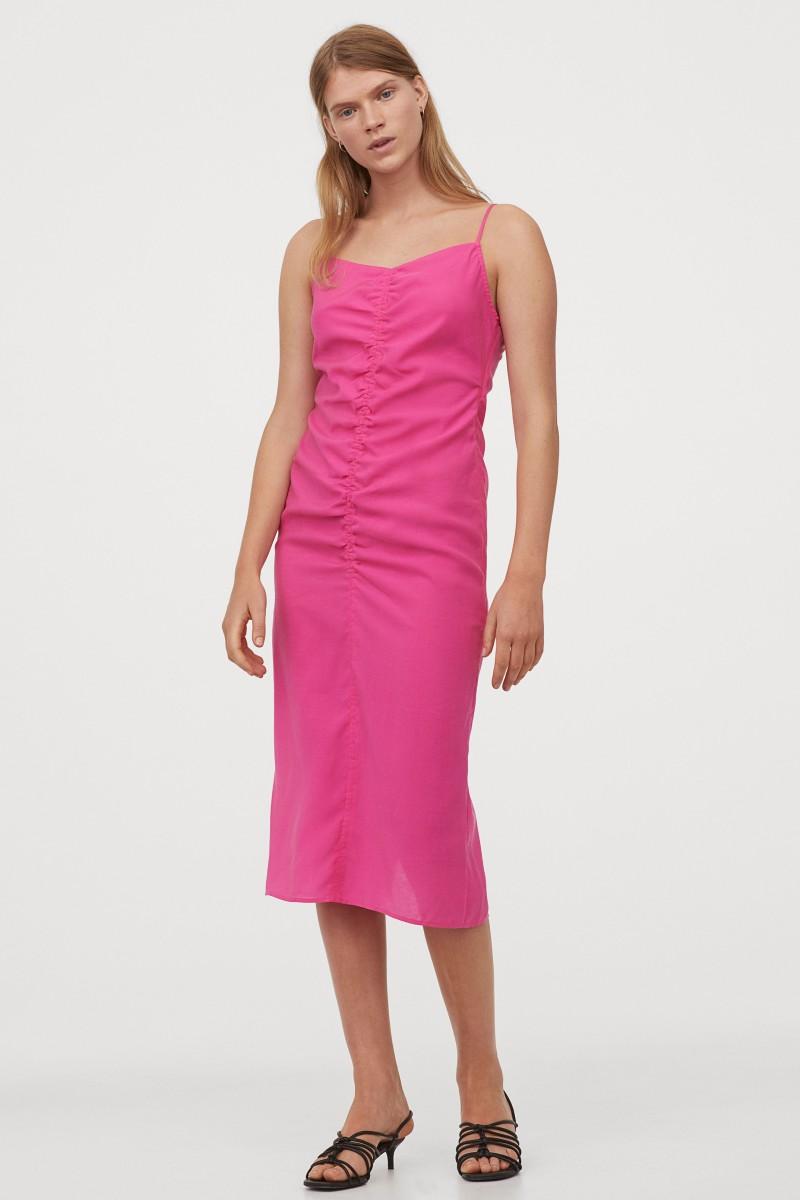 φούξια φόρεμα hm