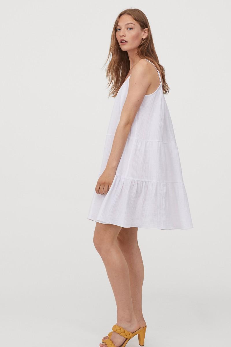 h&m λευκό φόρεμα