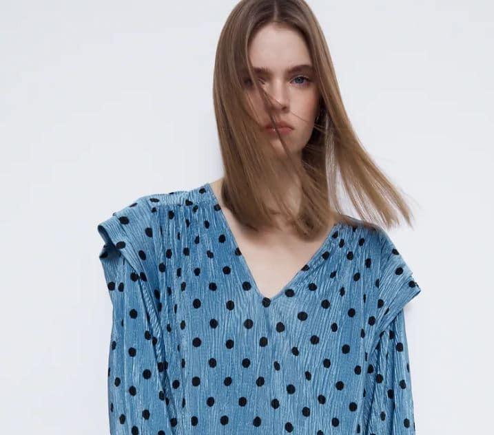 zara φορεμα γαλαζιο2