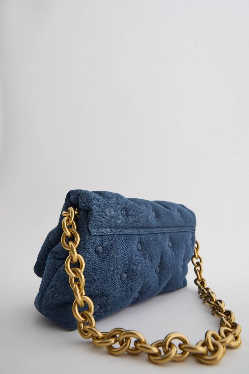 Zara τζιν τσάντα