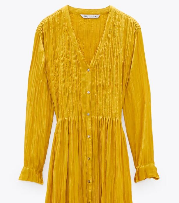 Zara κίτρινο φόρεμα