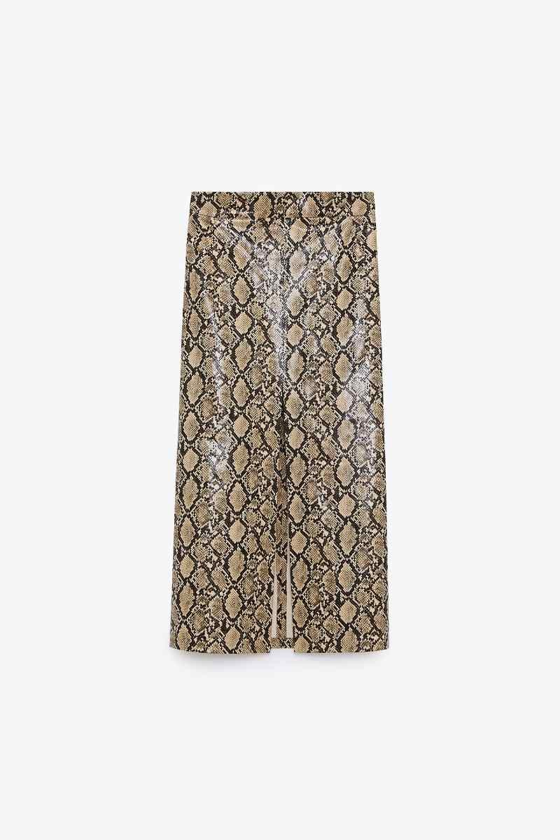 Zara snake print φούστα