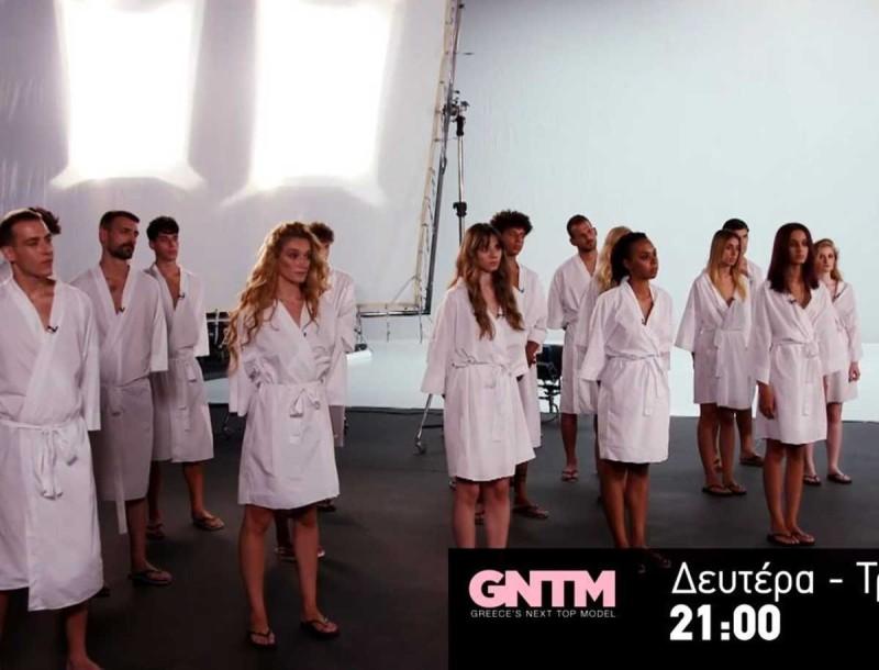 GNTM 3: «Πάγωσαν» οι διαγωνιζόμενοι - Γυμνό στην πρώτη κιόλας δοκιμασία