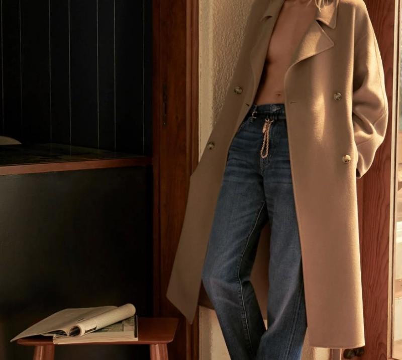 Zara μπεζ παλτό