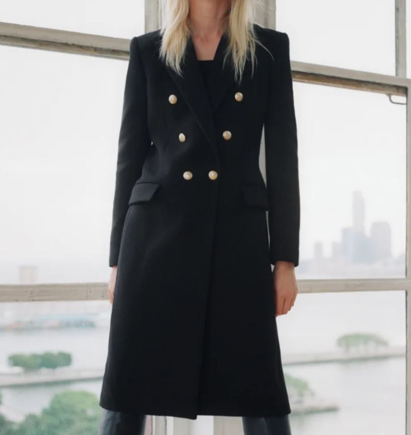 Zara μαύρο παλτό