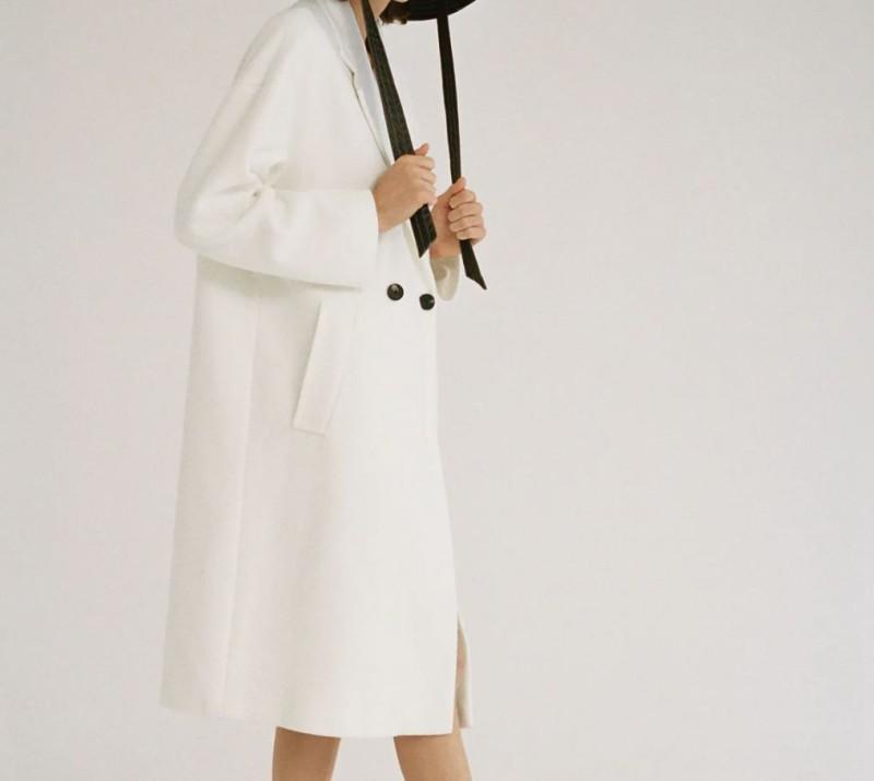 Zara λευκό παλτό