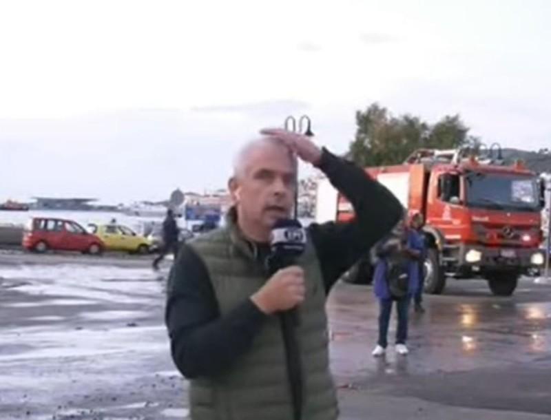 Βίντεο από τη στιγμή του μεγάλου μετασεισμού στη Σάμο - Τρομοκρατήθηκε ο ρεπόρτερ της ΕΡΤ