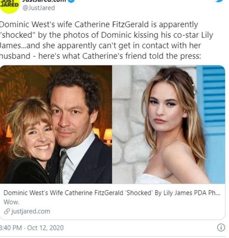 Dominic West σύζυγος