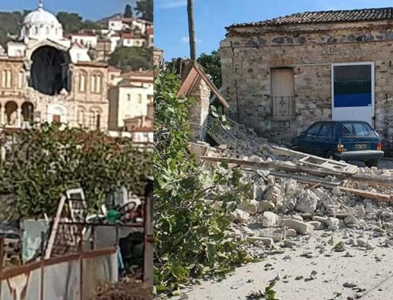 Σεισμός στη Σάμο: Εξωπραγματικό βίντεο - Κατέρρευσε εκκλησία
