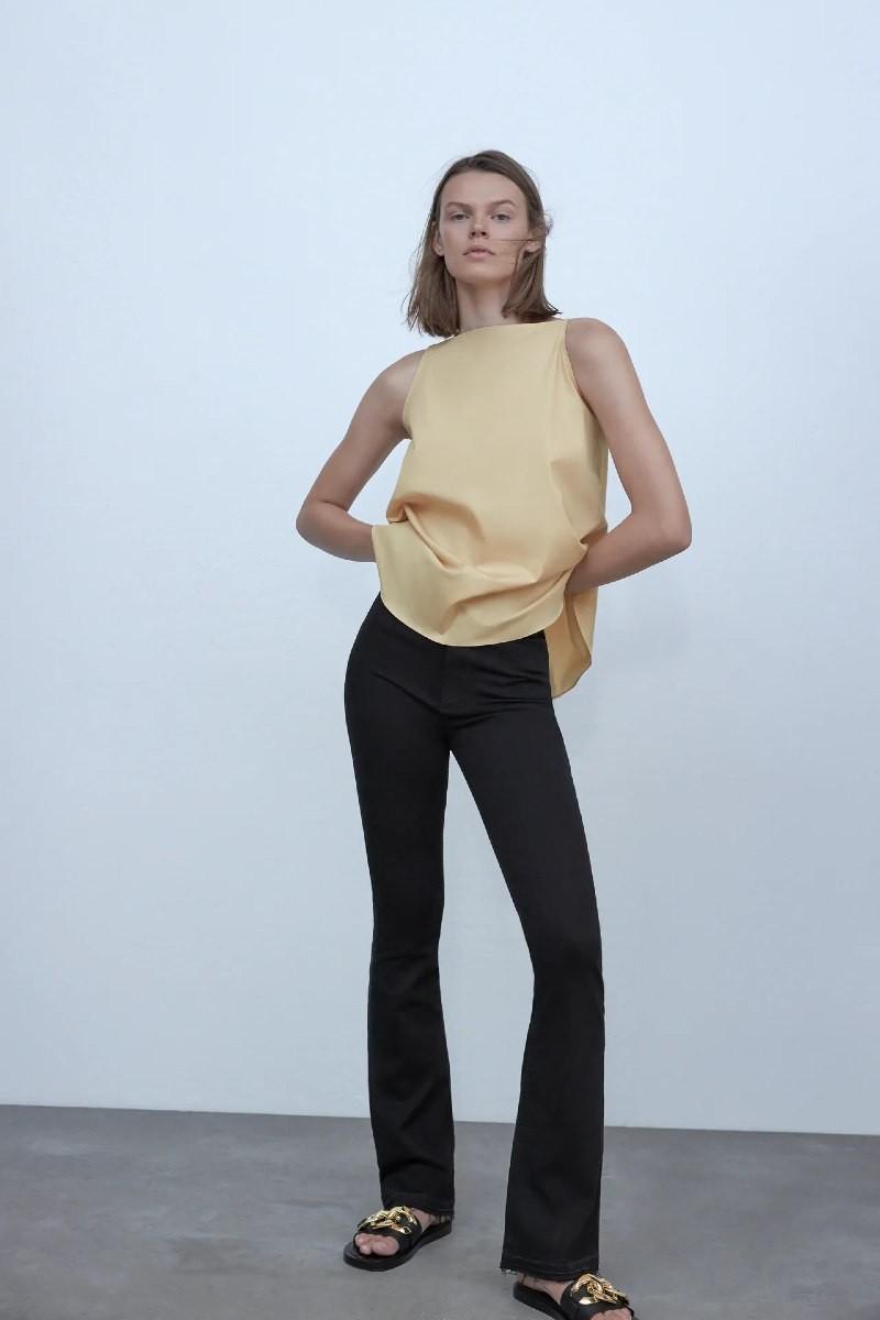 Ζέτα Μακρυπούλια Zara παντελόνι
