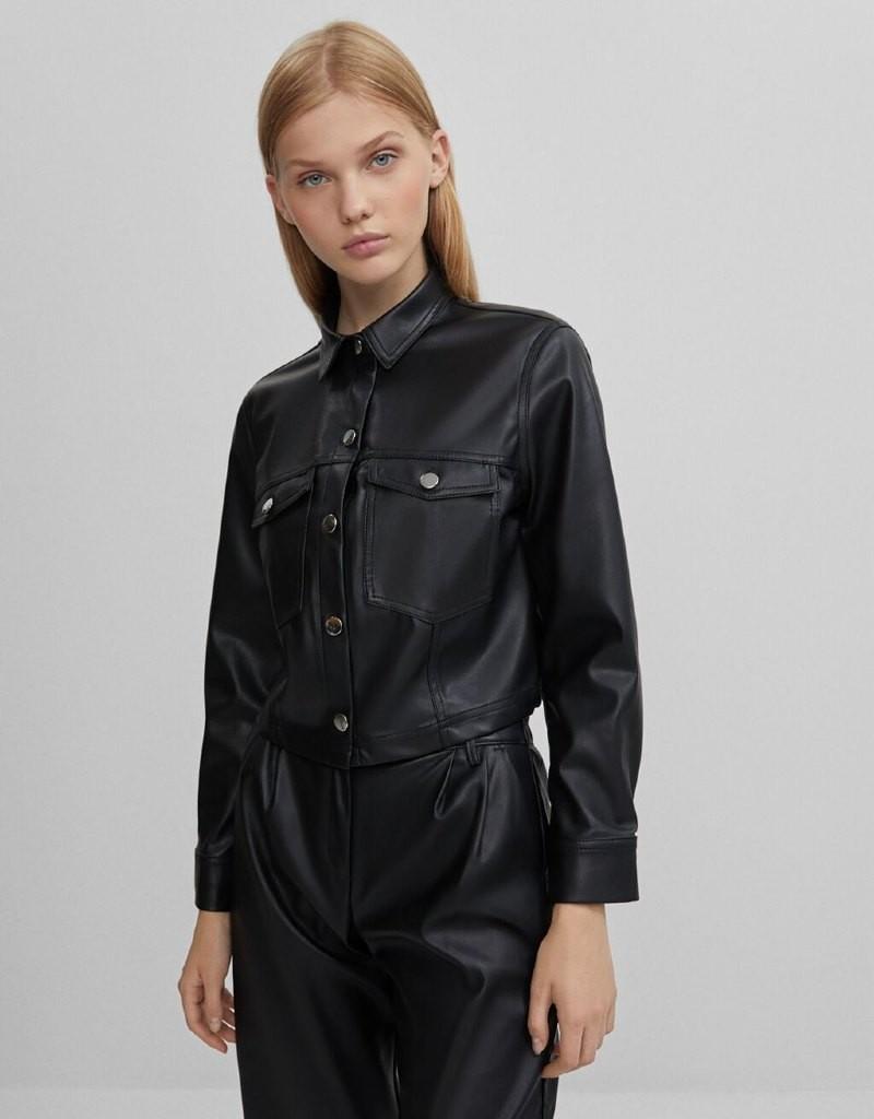 Bershka δερμάτινο jacket σε έκπτωση