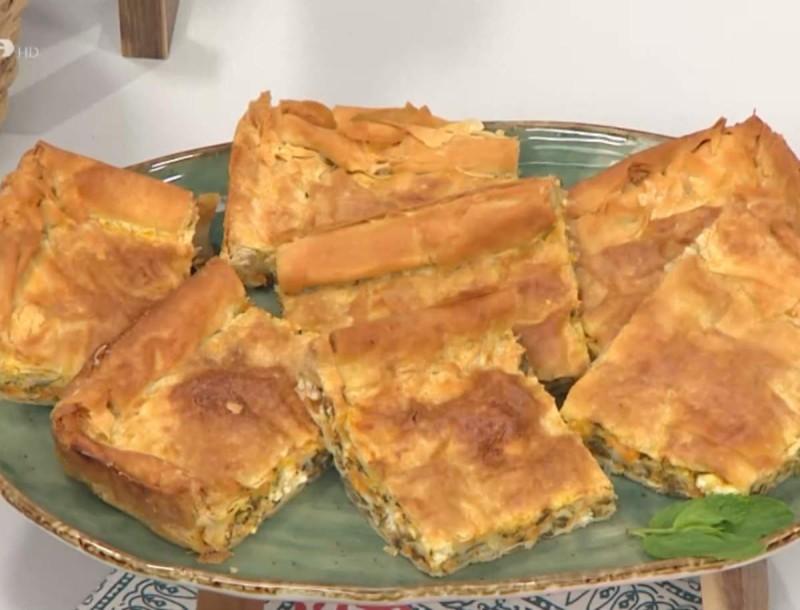 Ζουμερή κολοκυθόπιτα με φρέσκο γάλα από τον Απόστολο Ρουβά - Ξετρελάθηκαν στο Πάμε Δανάη