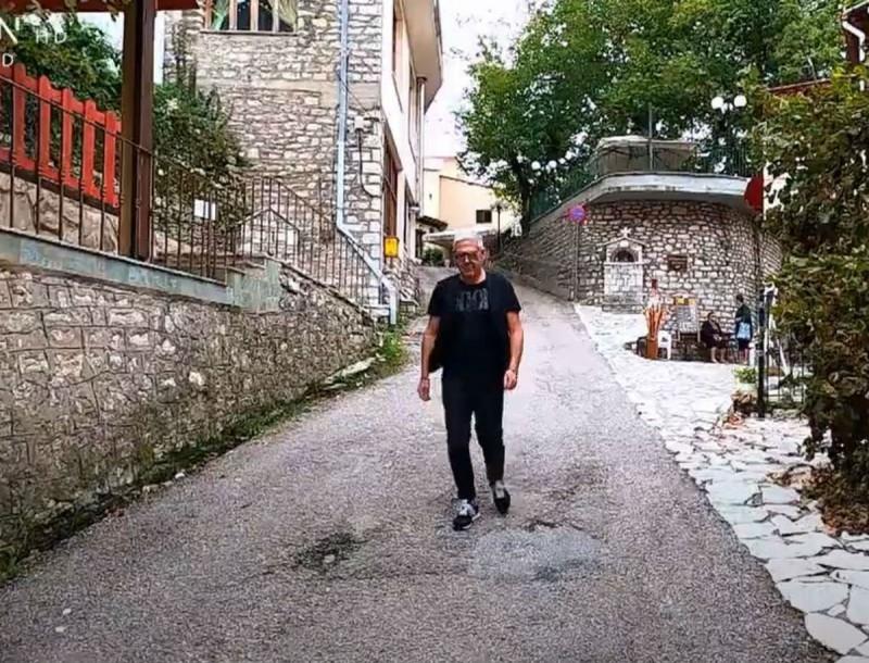 Εικόνες: Ο Τάσος Δούσης συνεχίζει το ταξίδι του στην Ευρυτανία