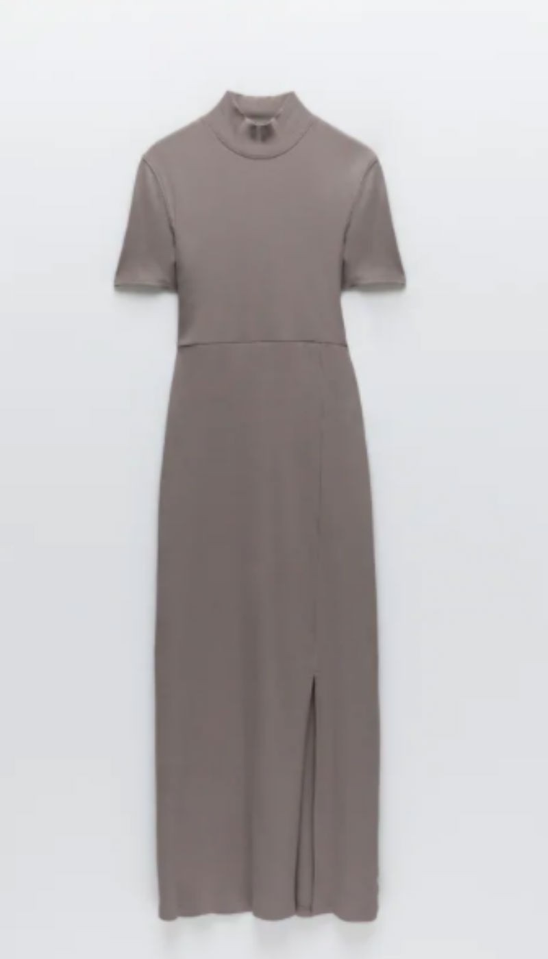 ποντικί φόρεμα zara