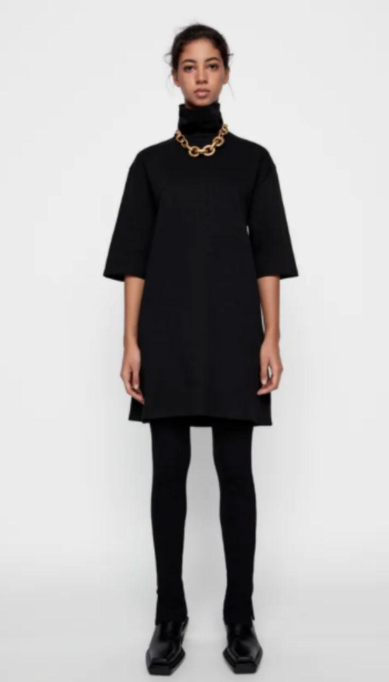 μαύρο φόρεμα zara