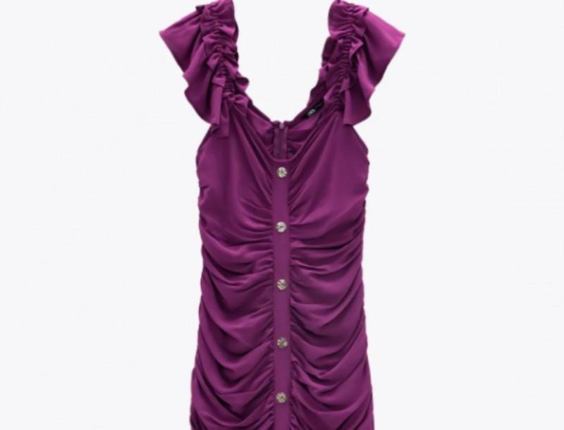 Zara: -65% το πιο συγκλονιστικό μωβ φόρεμα - Ξεπουλάει περισσότερο από όλα