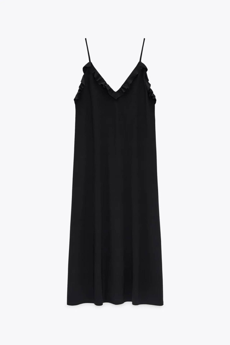 zara μαύρο φόρεμα