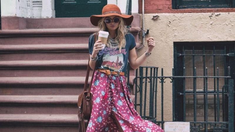 Bohemian φούστα