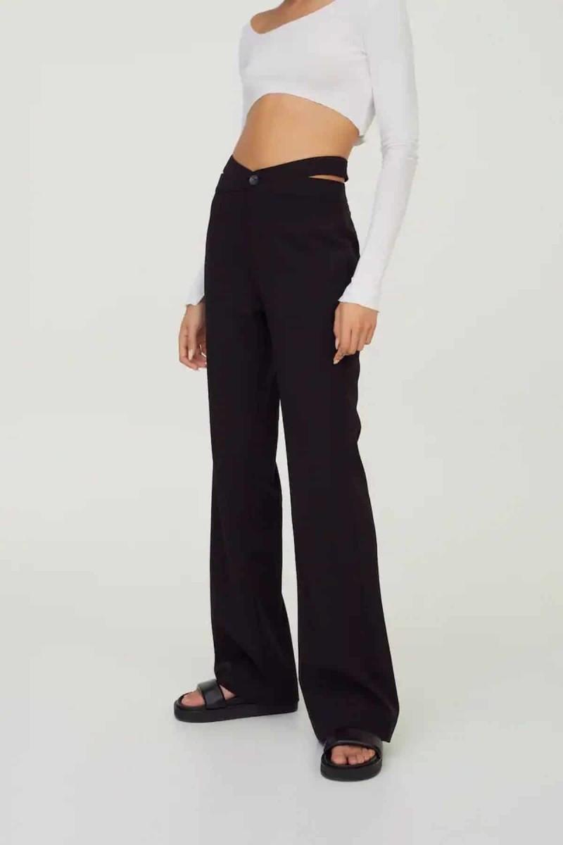 μαύρο παντελόνι με ανοίγματα