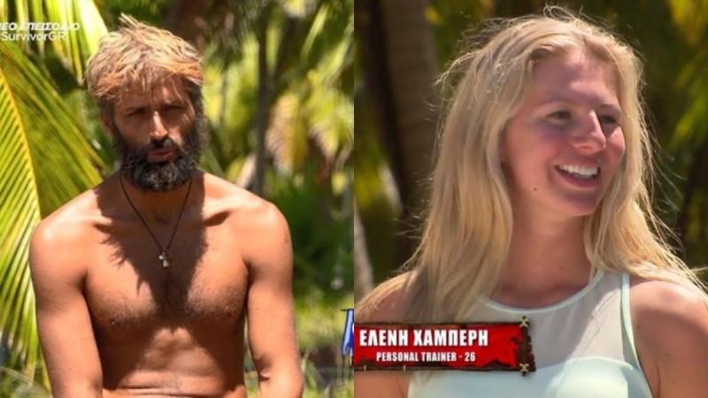 Survivor 4: «Κολλημένος» με την Ελένη Χαμπέρη μετά την ένωση ο Αλέξης Παππάς