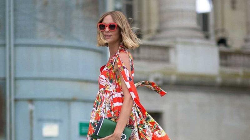 floral boho φόρεμα τάση 2021