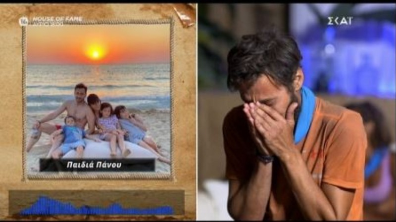 Survivor 4: «Έλιωσε» ο Πάνος Καλίδης όταν άκουσε τις φωνές των παιδιών του