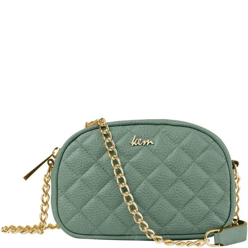 πράσινη τσάντα με αλυσίδα