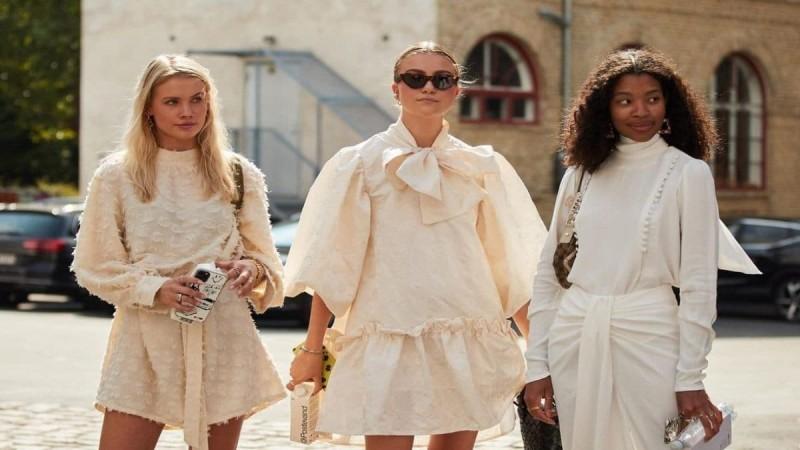 λευκά φορέματα street style