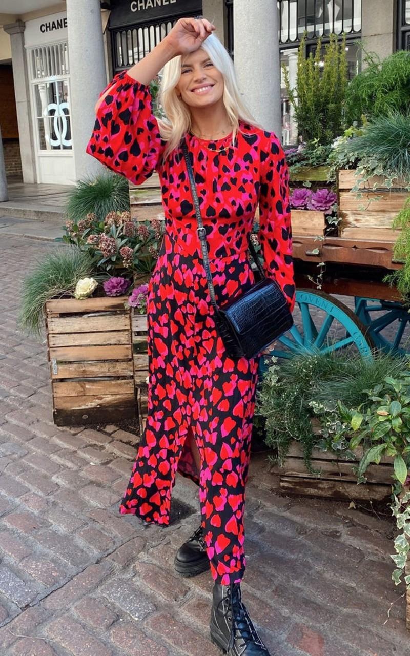 street style printed φόρεμα