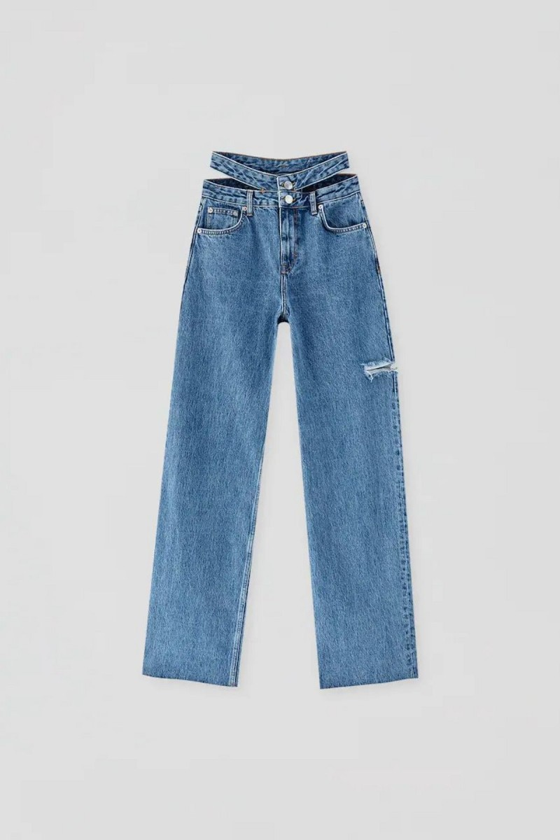 τζιν παντελόνι με κοψίματα