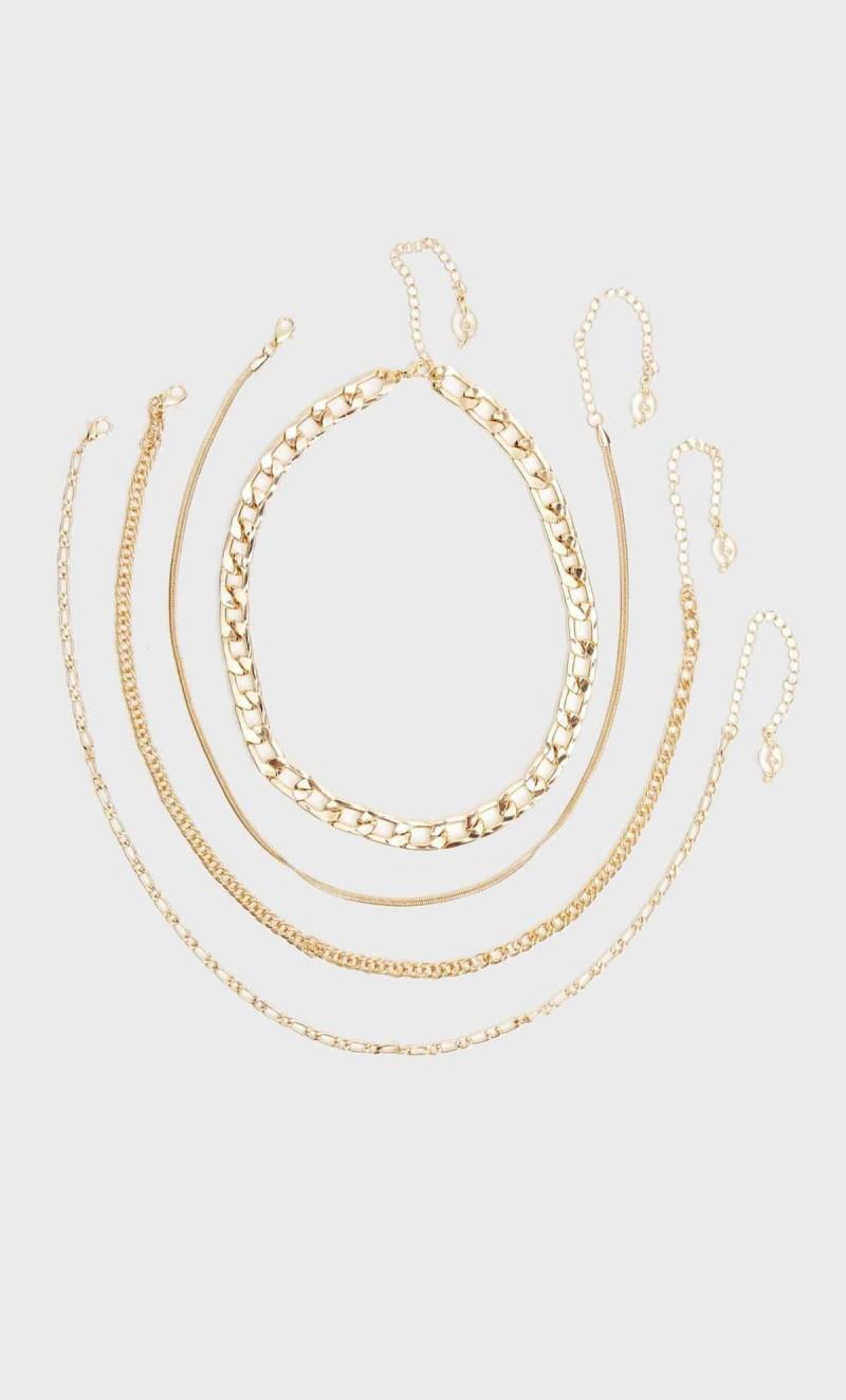 πολλές χρυσές αλυσίδες