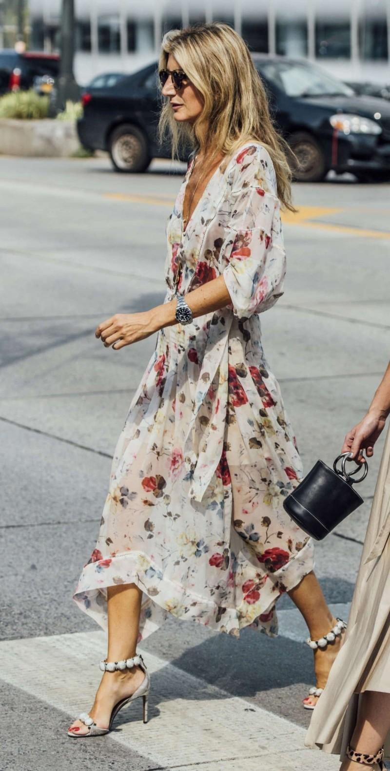 street style floral φόρεμα