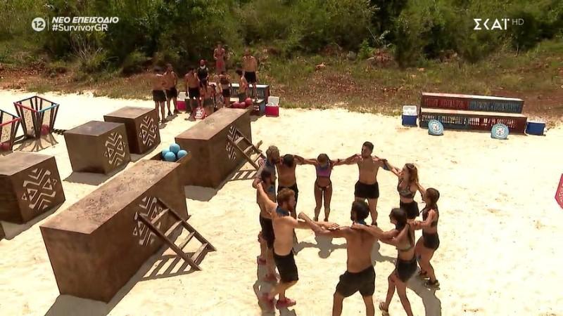 Survivor 4 οι Μπλε νίκησαν τον αγώνα επάθλου