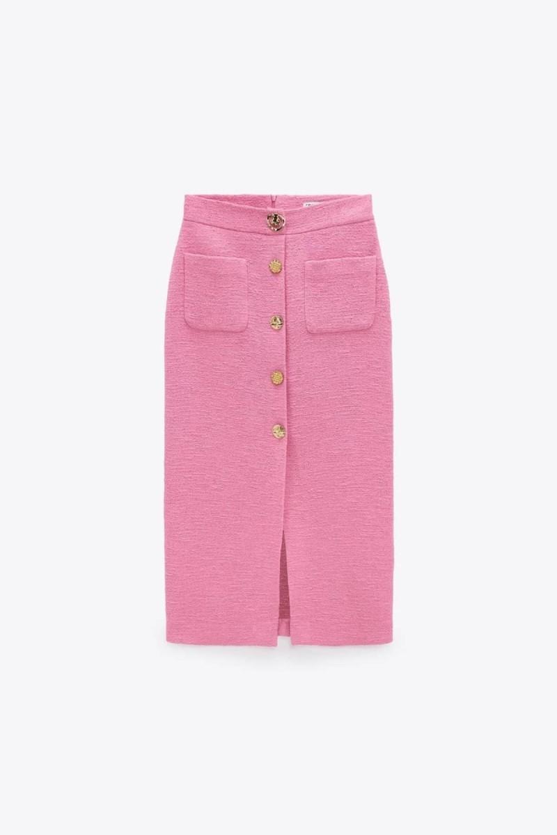 μίντι ροζ φούστα