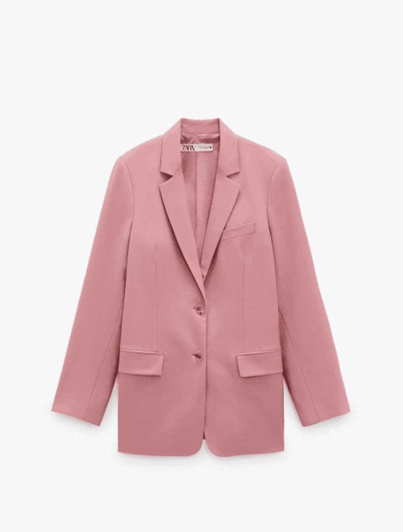 blazer dusty pink zara