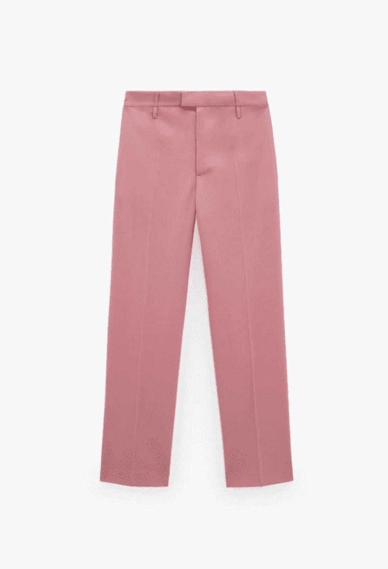 pants dusty pink zara