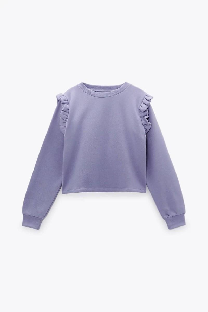 μοβ φούτερ με βολάν