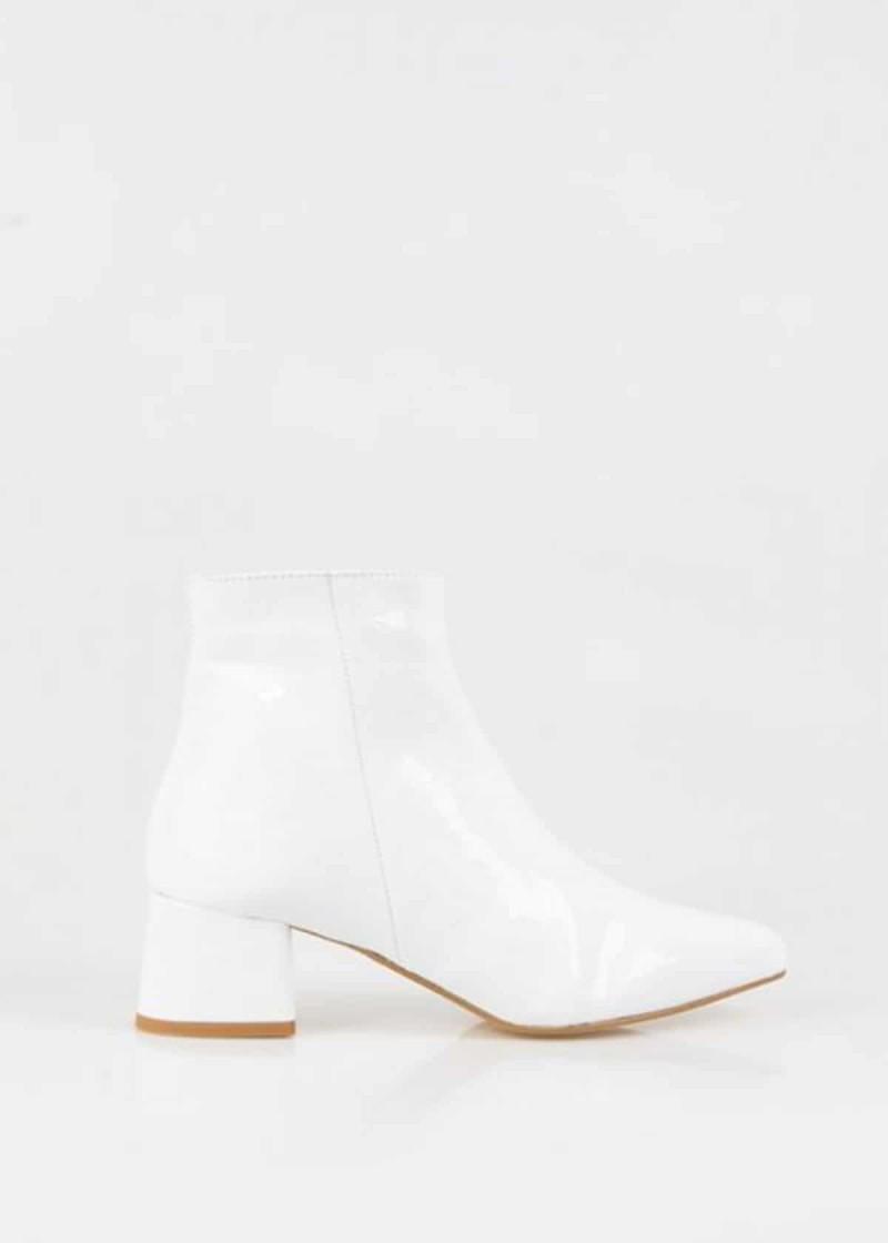 λουστρίνι λευκές μπότες