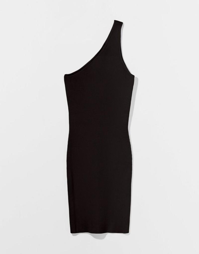 μαύρο φόρεμα με cut-out