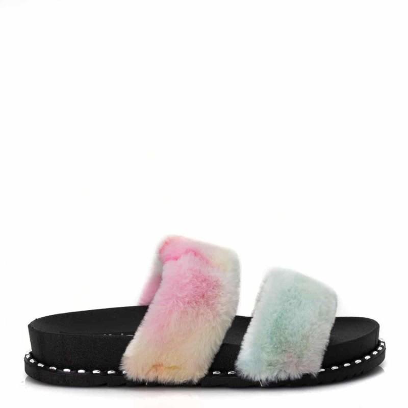 tie-dye slipers